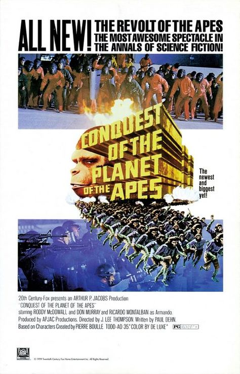 Conquest Of The Planet Of The Apes Poster Click To View Extra Large Image Poster Film Cinema