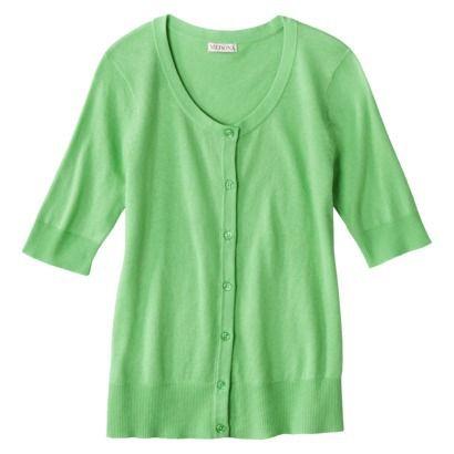 $20 Pristine Green Merona® Women's Short Sleeve Cardigan | Wear to ...