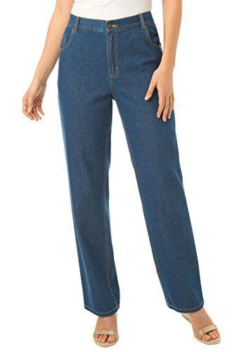 Womens Plus Size Wide Leg 100 Cotton Jean