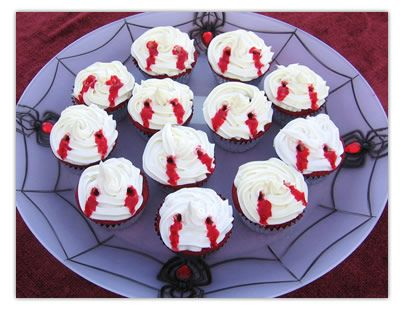 Angela's Original Red Velvet Vampire Bite Cupcakes - Vino Primo Dot Com - The Everyday Wine Lover's Guide to the Vino Lifestyle...