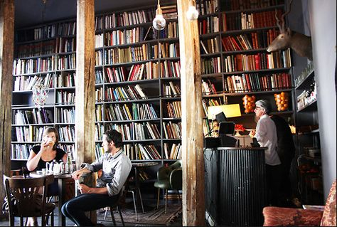 I actually want to move in, the cafe and bookstore at Merci