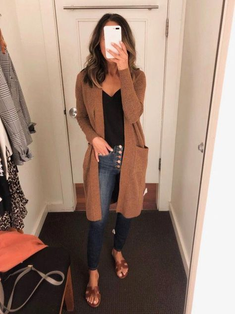 Fitting Room Snapshots (Banana Republic, Ann Taylor, LOFT) ~ Lilly Style - - Source by outfits casual Casual Fall Outfits, Fall Winter Outfits, Autumn Winter Fashion, Summer Outfits, Casual Attire, Cute Jean Outfits, Feminine Fall Outfits, Cute Cardigan Outfits, Jean Shirt Outfits