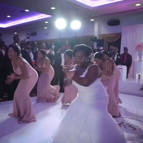 #Bride and #Bridesmaids #BattleDance reply to the #Groomsmen. Who won? Check next post.