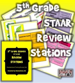 5th Grade Science Review Stations (TEKS) | School | 5th grade