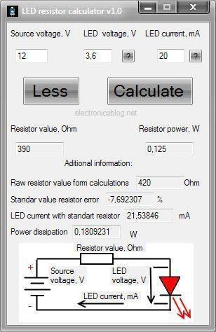 Download Led Resistor Calculator For Windows V1 0 Resistors Calculator Calculator Words