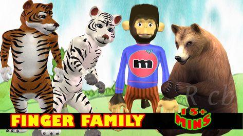 Five Lttle Monkey Finger Family Song