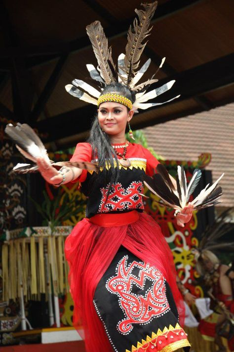 Pesona Kecantikan Masyarakat Suku Dayak Di Kalimantan Pakaian Tari Kecantikan Ahli Kecantikan