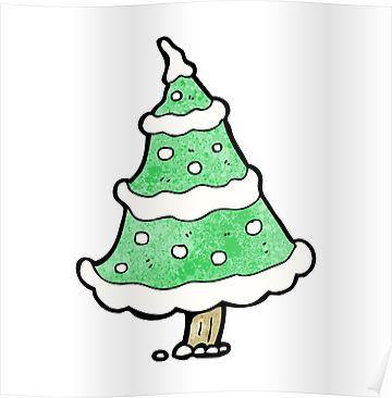 Cartoon Snowy Christmas Tree Sticker By Linear Testpilot Cartoon Christmas Tree Snowy Christmas Tree Tree Stickers