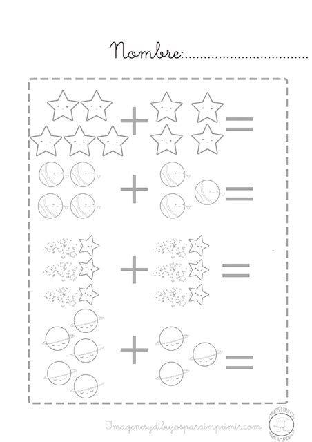 Pdf Ejercicios De Sumas Para Niños De Preescolar Dibujos Para Preescolar Matemáticas Para Niños Actividades Gráficas