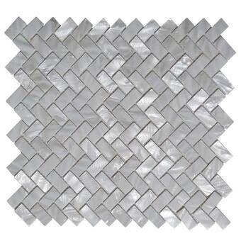 0 8 X 0 8 Seashell Mosaic Tile In White Opal Shell Mosaic Tile Shell Tiles Shell Mosaic
