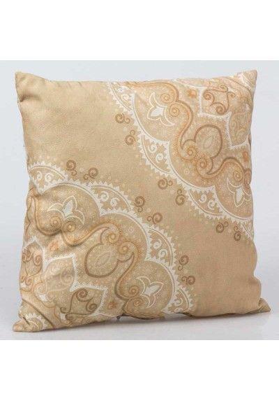 Cojin Beige Micropol Barato Decoracion Textil Moderno Cojines