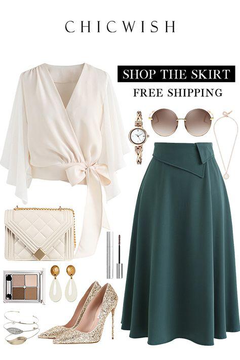 Keep on Loving You A-Line Midi Skirt