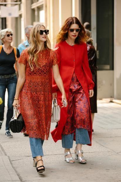 Street Style Twinning Happened On Day 5 of New York Fashion Week - Fashionista ♦๏~✿✿✿~☼๏♥๏花✨✿写☆☀🌸🌿🎄🎄🎄❁~⊱✿ღ~❥༺♡༻🌺<MO Feb ♥⛩⚘☮️ ❋