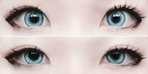 Makeup Tutorial Asian Eyes Circle Lenses New Ideas - - Anime Eye Makeup, Gyaru Makeup, Kawaii Makeup, Doll Makeup, Asian Makeup, Cute Makeup, Beauty Makeup, Makeup Eyes, Korean Makeup