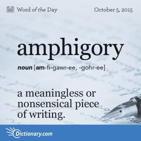 amphigory - Word of the Day | Dictionary.com