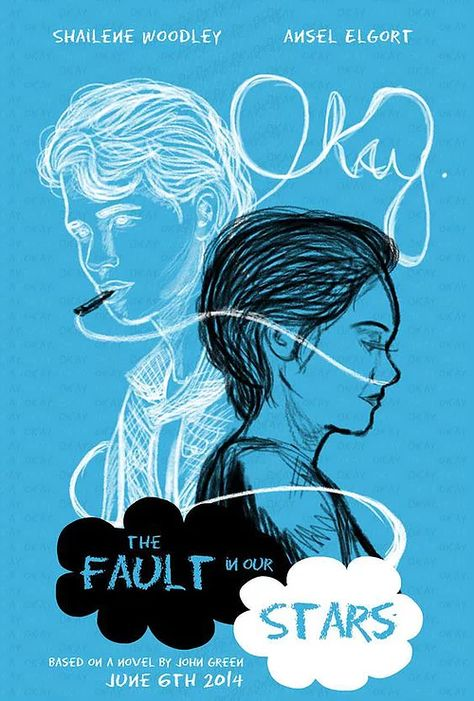 "2015 Reading Challenge -- A book ""everyone"" had read but me -- ""The Fault In Our Stars"" by John Green (cover by Grodansnagel on deviantART) Augustus Waters, The Fault In Our Stars, Jhon Green, Film Anime, John Green Books, John Green Movies, Ansel Elgort, Looking For Alaska, Tfios"