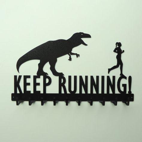 LOL! Funny t-rex medal rack. via @Etsy, $48.99