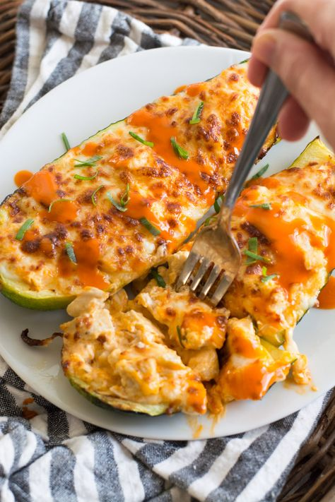 Buffalo Chicken Zucchini Boats - The Best Keto Recipes