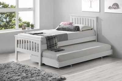 Portman Solid Oak Guest Bed 3ft Single Bed Simple Bed Guest Bed