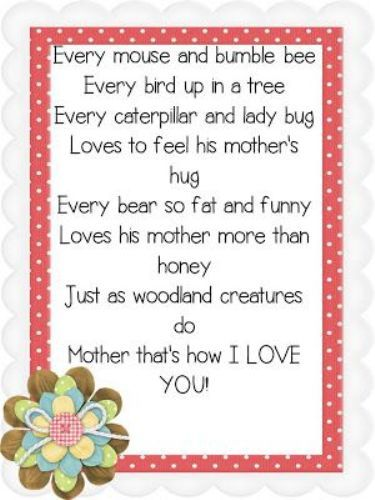 Heart Touching Poems On Mother For Mothers Day 2017