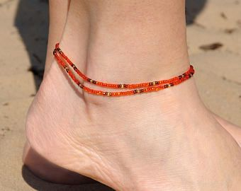 gift ankle pin delicate anklets for beach dainty her simple bracelet beaded girlfriend women summer anklet