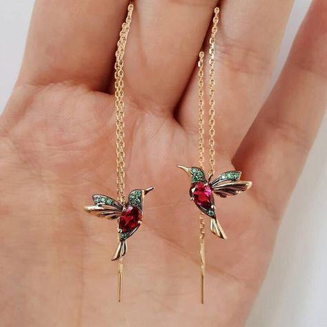 Long Tassel Earrings, Rose Gold Earrings, Women's Earrings, Sterling Silver Earrings, Pendant Earrings, Rhinestone Earrings, Crystal Rhinestone, Bijou Geek, Stud Earrings