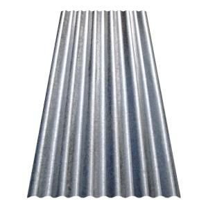 Fabral 12 Ft Galvanized Steel Roof Panel 4736008000 The Home Depot In 2020 Steel Roof Panels Corrugated Metal Roof Polycarbonate Roof Panels