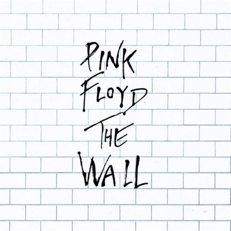Pink Floyd - The wall. this album cover work because it is a simple design where the typography is used to draw the audience in.