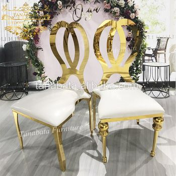 Stackable Gold Metal Frame Hotel Wedding Chairs For Sale View Hotel Wedding Chairs For Sale Tanabata Product Detai Wedding Chairs Chairs For Sale Hotel Chair