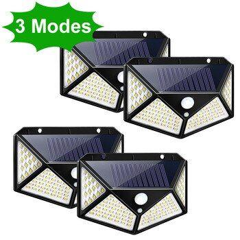 3 Modos Led Luz Solar Exterior Lampara Solar Pir Sensor De Movimiento Luz De Pared En 2020 Iluminacion Solar Al Aire Libre Sensores De Movimiento Luces Solares Jardin
