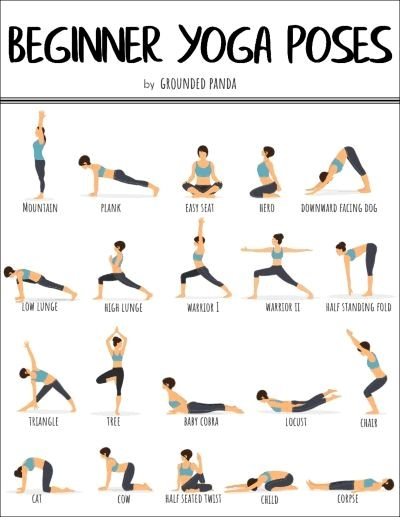 20 Basic Printable Yoga Poses For Beginners To Improve Flexibility Posture And Tightness To Build A Founda Yoga Pour Debutants Pose Yoga Exercices De Fitness