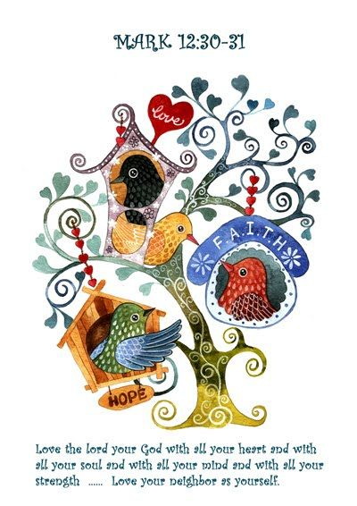 Christine S Art Blog Love Your Neighbor Love Your Neighbour Art Blog Bird Doodle