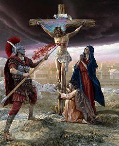 Crucifixion-divine Mercy Print by Kurt Miller