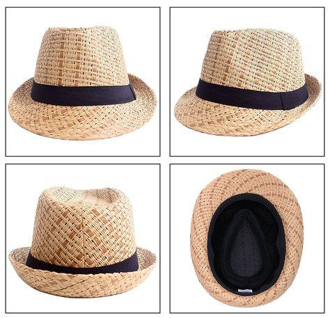 6d75db27 Hats & Caps, Men's Hats & Caps, Fedoras,Men/Women's Summer 2 Tone Colored  Straw Fedora Hat - Brown/Black - C11808IM6TG #caps #hats #style  #mensoutfits ...