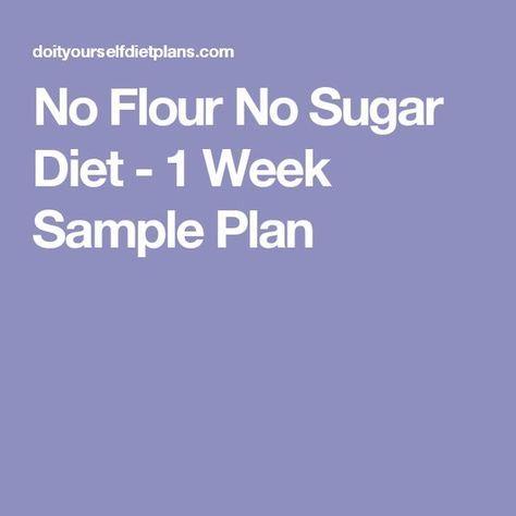 no sugar nonflour diet