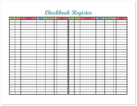 Checkbook Register - Freebie Printable Checkbook register - printable check register