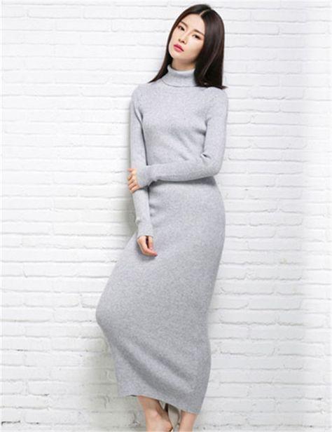 6567a318dfc Купить товар Зима женщины кашемир длинное платье 2015 осень леди  сексуальная клуб платья бренда элегантный женский