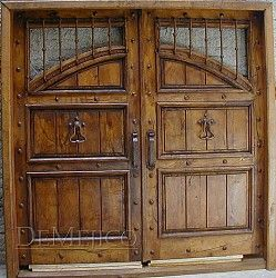 Custom Hand Forged Wooden Doors