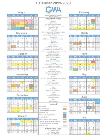 Pictures of Gwu 2021 Academic Calendar