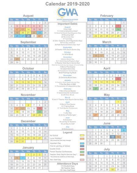 Gw Academic Calendar Pdf Nprintable File Free Academic Calendar