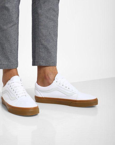 d35d8358cb0 Buy Vans Men White Canvas Gum Old Skool Shoes | AJIO | clothing ...