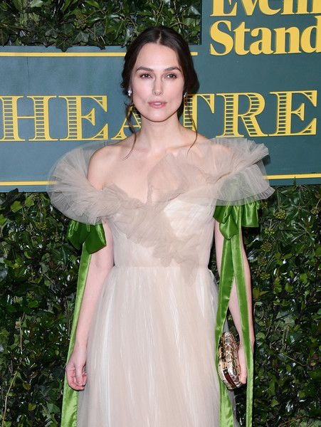 Keira Knightley attends the London Evening Standard Theatre Awards.