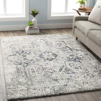 Bungalow Rose Ramey Vintage Oriental Taupe Gray Area Rug Living