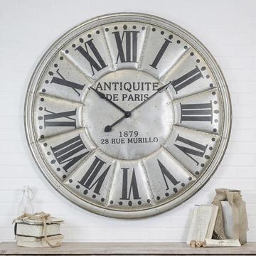Vintage Page 2 Rod Works Online Large Silver Wall Clock Silver Wall Clock Clock