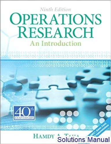 Solutions Manual For Introduction Operations Research 9th