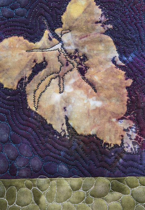 Art Quilt Arte tessile incorniciata Vite di VerenaGItaly su Etsy