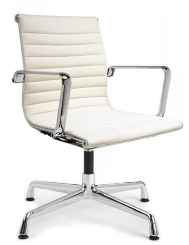 Armless Desk Chair No Wheels White Office Chair Modern Office Chair White Desk Chair