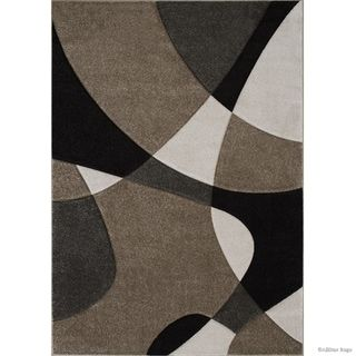 Allstar Champagne Woven Abstract Colorblock Modern Design Rug 10
