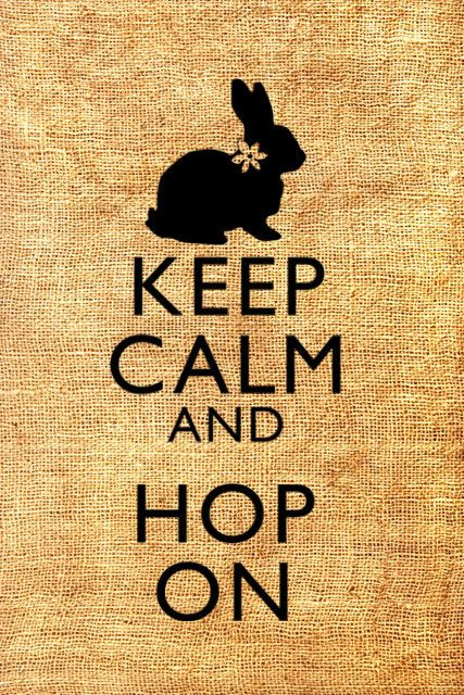 Keep Calm and Hop On Easter Bunny Original by brownpapervintage, $1.00