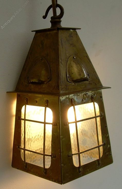 Antiques Atlas An Arts Crafts Br Hall Light